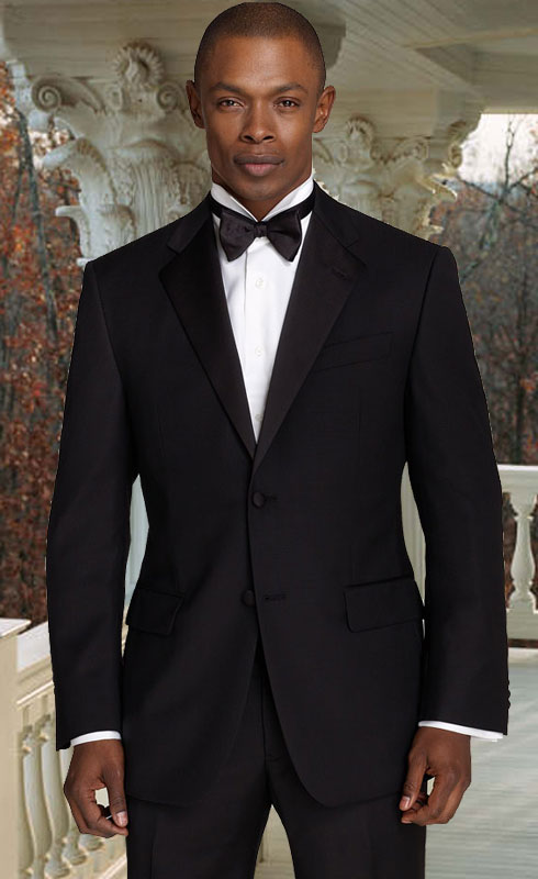 CLS-500 2 BUTTON EXTRA FINE HAND MADE  TUXEDO 100% WOOL WITH NOTCH LAPLE