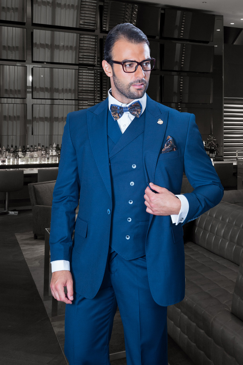 Navy Blue-Indigo Suit - Italsuit.com