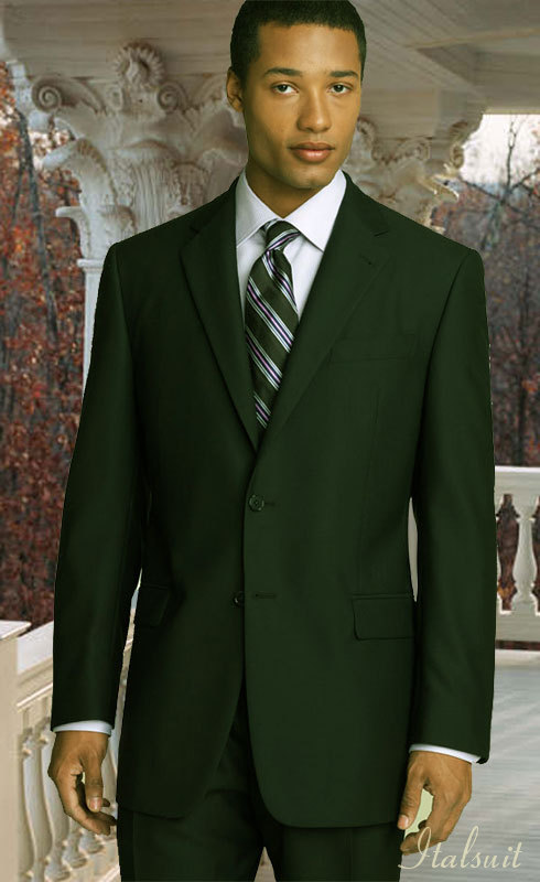 Olive-Hunter Green Suit - Italsuit.com