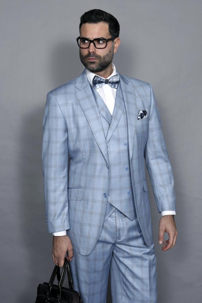 Special Offer - Flat Front Pants Suit - Tuxedo Suit for Men